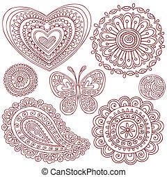 alapismeretek, díszlet tervezés, doodles, hennabokor