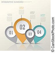 alapismeretek, elvont, dolgozat, modern, megjelöl, elhelyezés, infographic