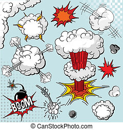 alapismeretek, könyv, felrobbanás, komikus