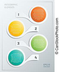 alapismeretek, lépések, színes, infographics