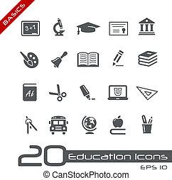 //, alapok, oktatás, ikonok