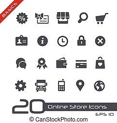 //, alapok, online készlet, ikonok