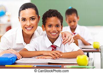 alapvető, diákok, tanít tanár