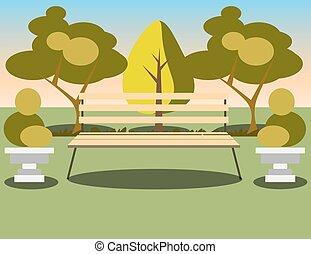 alatt, park., fa, bírói szék