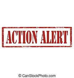 alert-stamp, akció