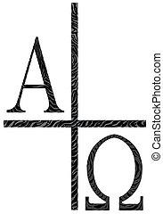 alfa, kép, omegs, ikon