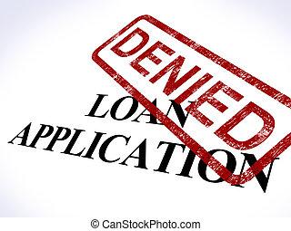alkalmazás, bélyeg, kölcsönad, elhajít, hitel, tiltott, látszik