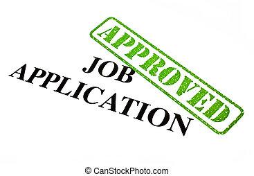 alkalmazás, munka, jóváhagyott