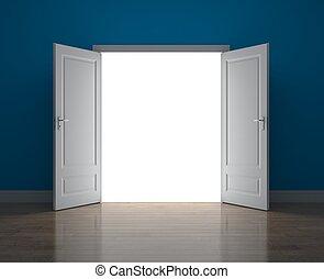 alkalom, ajtó, új