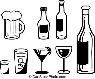 alkoholista, vázlat, ital
