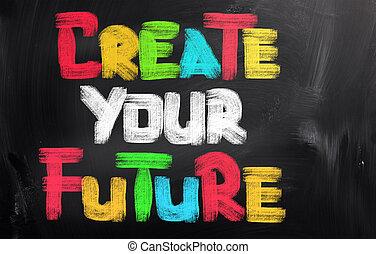 alkot, fogalom, jövő, -e