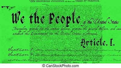 alkotmány, írott, 4k, egyesült államok