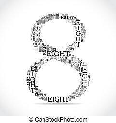 alkotott, szöveg, -, szám, ábra, nyolc