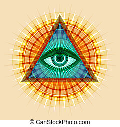 all-seeing, szem, (the, providence)