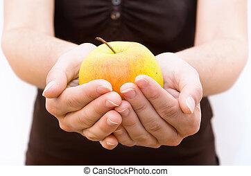 alma, kéz