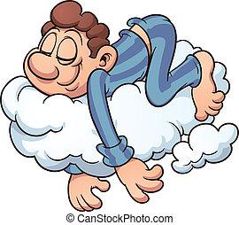 alvás, felhő