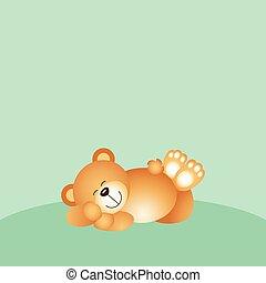 alvás, hord, háttér, teddy-mackó