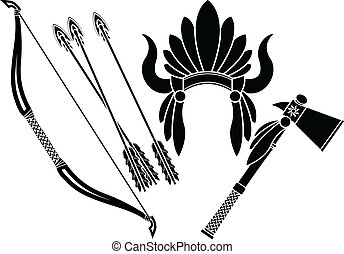american indian, tomahawk, frizura