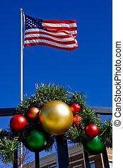 american lobogó, dísztárgyak, karácsony