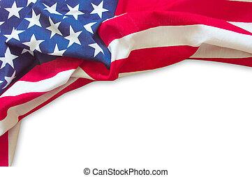 american lobogó, elszigetelt, határ