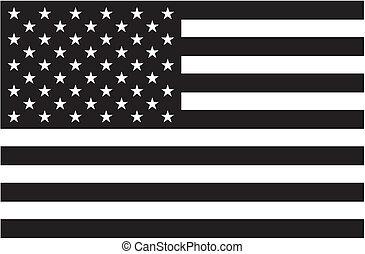 american lobogó, fekete, fehér