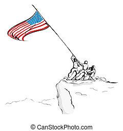 american lobogó, hadsereg