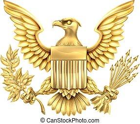 american sas, gold lepecsétel