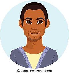 amerikai, afrikai, avatar, ember