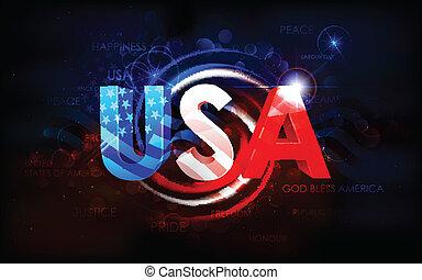 amerikai, elvont, lobogó, háttér