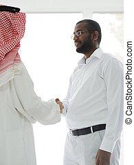 amerikai, férfiak, arab, ügy, afrikai
