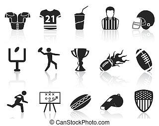amerikai futball, állhatatos, ikonok