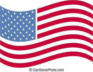 amerikai, művészet, lobogó, csíptet