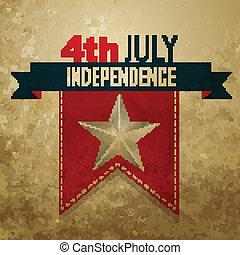 amerikai, nap, szabadság