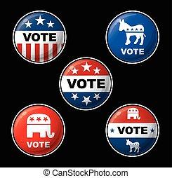 amerikai, rész, választás, elnöki