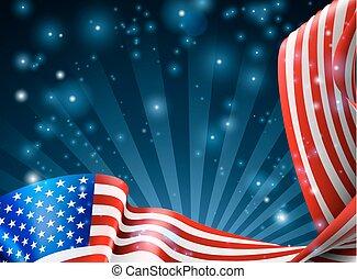 amerikai, tervezés, lobogó, háttér