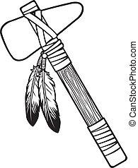 amerikai, tomahawk, bennszülött