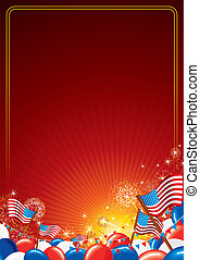 amerikai, vektor, háttér, ünneplés