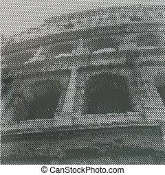 amfiteátrum, poster., vektor, stilizált