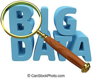 analízis, értesülés, adatok, talál, nagy