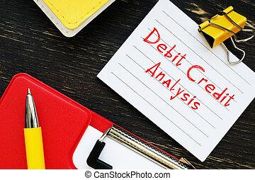 analízis, darab, aláír, hitel, tartozás, paper.