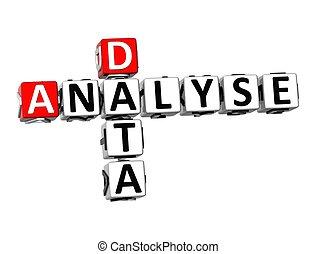 analizál, keresztrejtvény, háttér, fehér, adatok, 3
