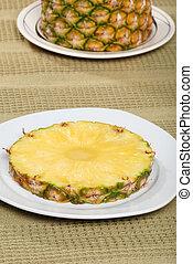 ananász, tányér