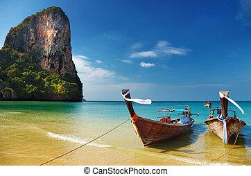 andaman, tropikus, tenger, tengerpart, thaiföld