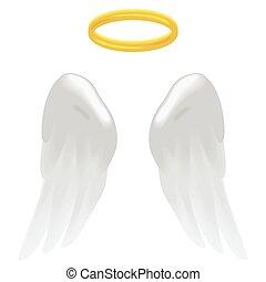 angel szárny, dicsfénnyel övezni