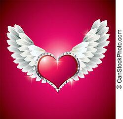 angel szárny, szív