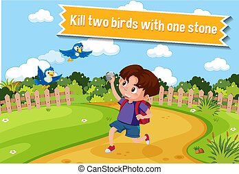 angol, idiom, megkövez, egy, leírás, két, megöl, madarak, film