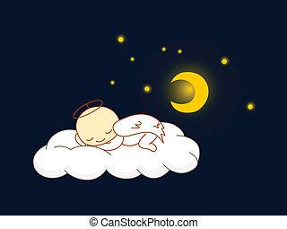 angyal, alvás