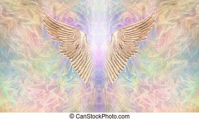 angyal, arany-, kasfogó, transzparens