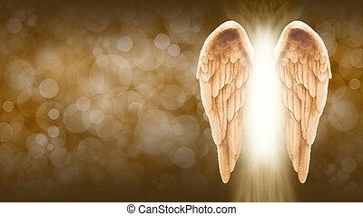 angyal, arany-, transzparens, kasfogó
