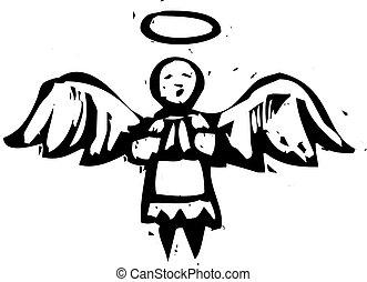 angyal, fametszet